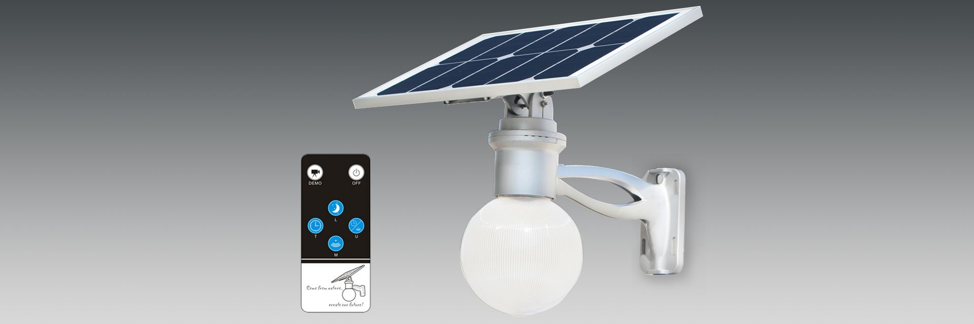 REMOTE CONTROLLED SOLAR LIGHTING
